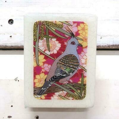 Mini Woodblock - Top Notch Pigeon