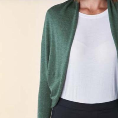 Clara Shrug - Emerald - 100% Merino Wool