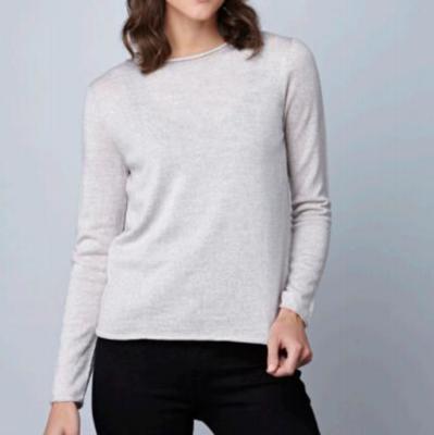Phoebe Top - Mushroom - 100% Merino Wool