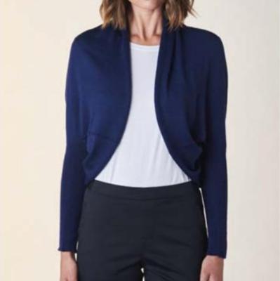 Clara Shrug - French Navy - 100% Merino Wool
