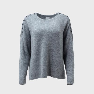 Carita Sweater Knit - Grey - Size 18