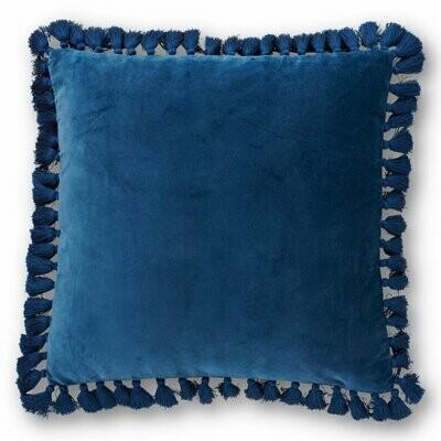 Velvet Tassel Cushion - Sailor Blue