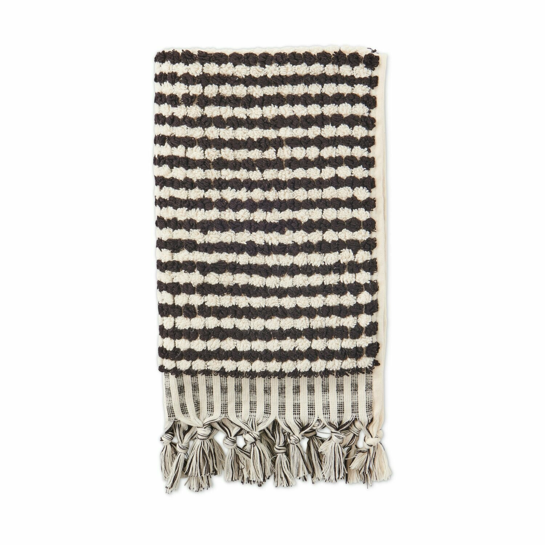 Turkish Towels - Hand Towel - Black & White Pebbles