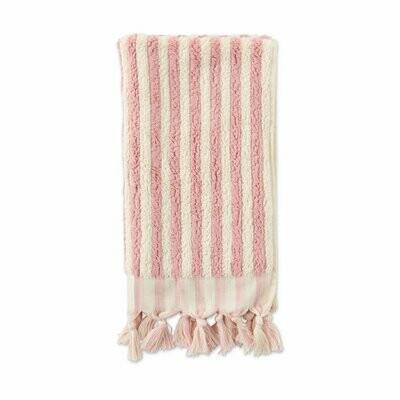 Turkish Towels - Hand Towel - Rose & White Stripes