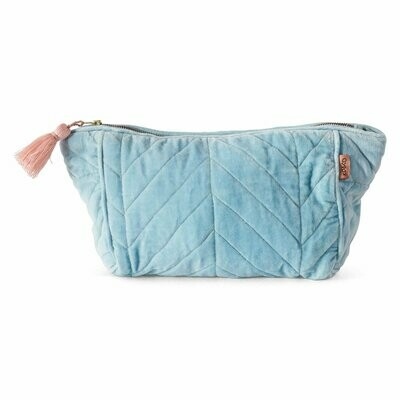 Velvet Toiletry Bag - Crystal Blue