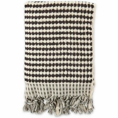 Turkish Towels - Bath Towel - Black & White Pebbles