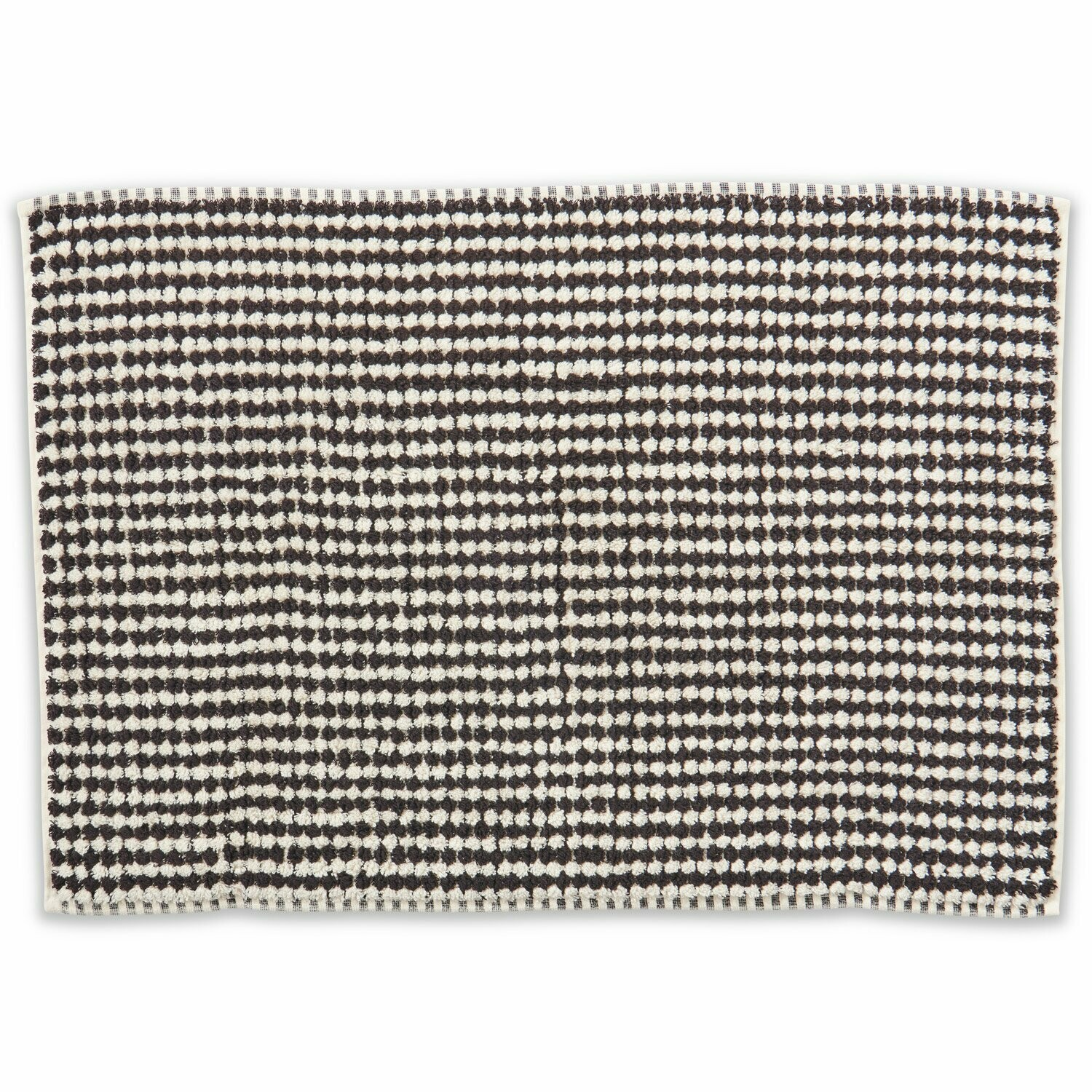 Turkish Towels - Bath Mat - Black & White Pebbles
