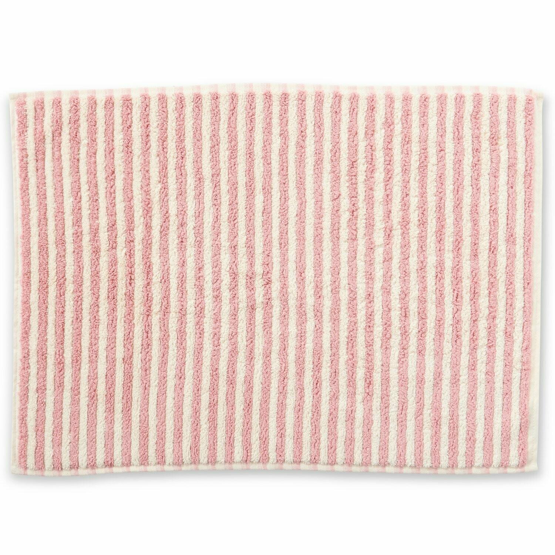 Turkish Towels - Bath Mat - Rose & White Stripe