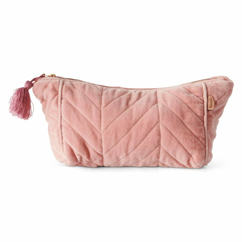 Velvet Toiletry Bag - Shrimp