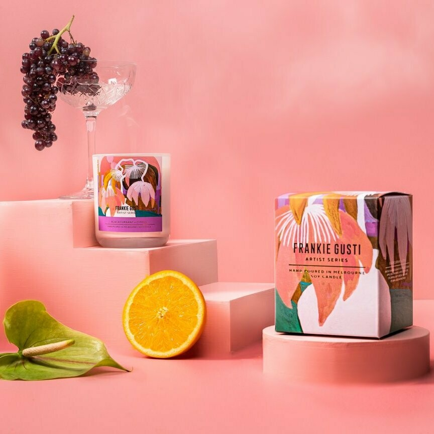 Soy Candle - Janey Forbes - Blackcurrant + Citrus