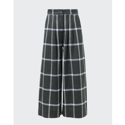 Alea Linen Pant - Check