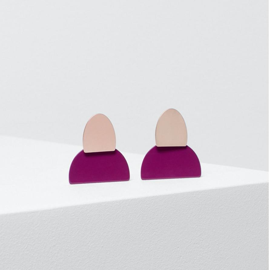 Birgita Earrings - Flamingo