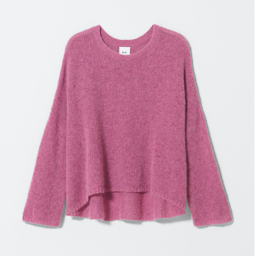 Agna Knit Sweater - Rose