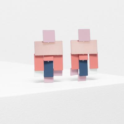 Falme Drop Earring - Dusty Pink