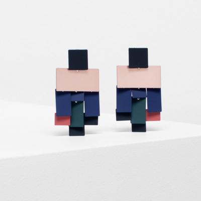 Falme Drop Earring - Navy