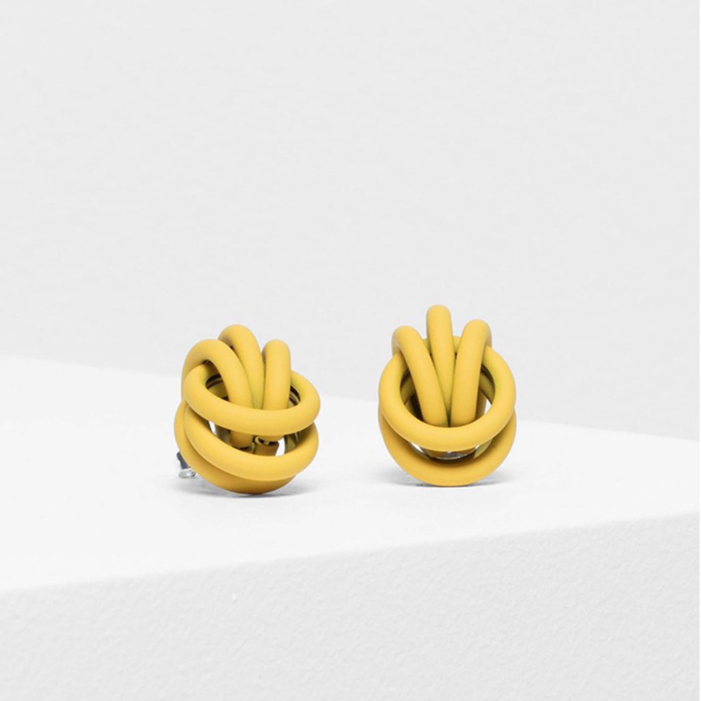 Bojor Stud Earrings - Yellow