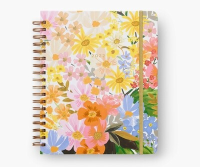 Rifle Paper Co - 2022 17-Month Hard Cover Spiral Bound Planner - Marguerite