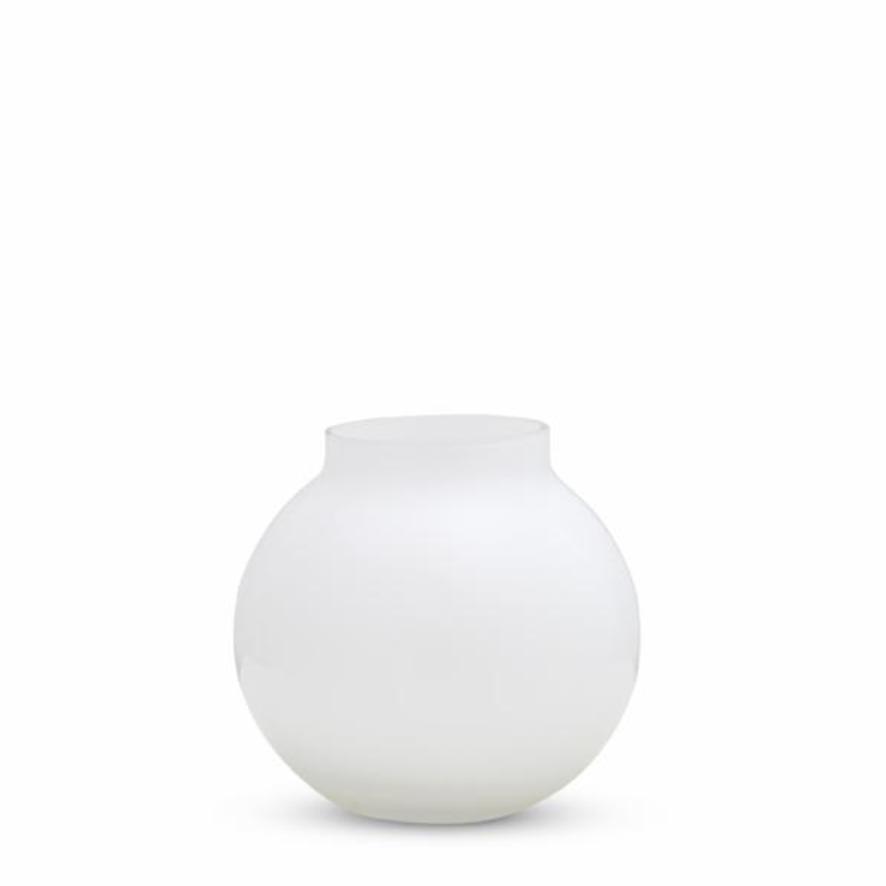 Opal Round Vase - White - Small