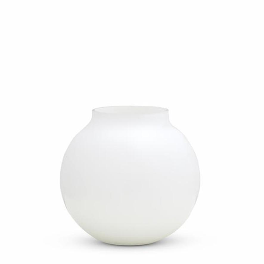 Opal Round Vase - White - Medium
