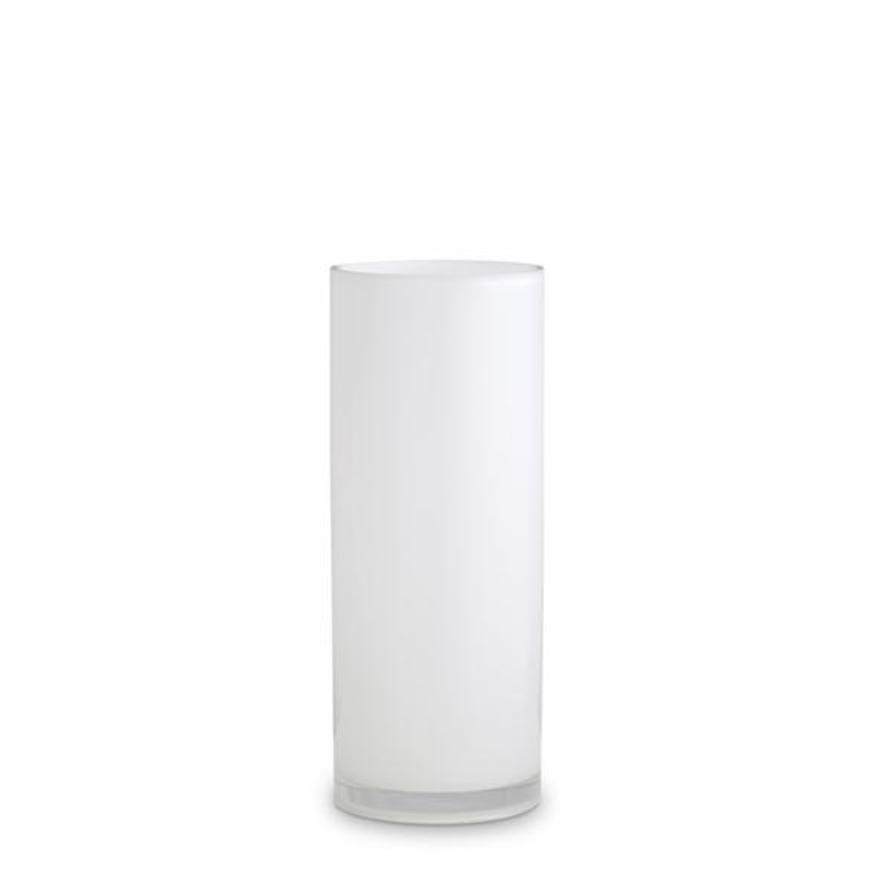 Opal Pillar Vase - White - Medium