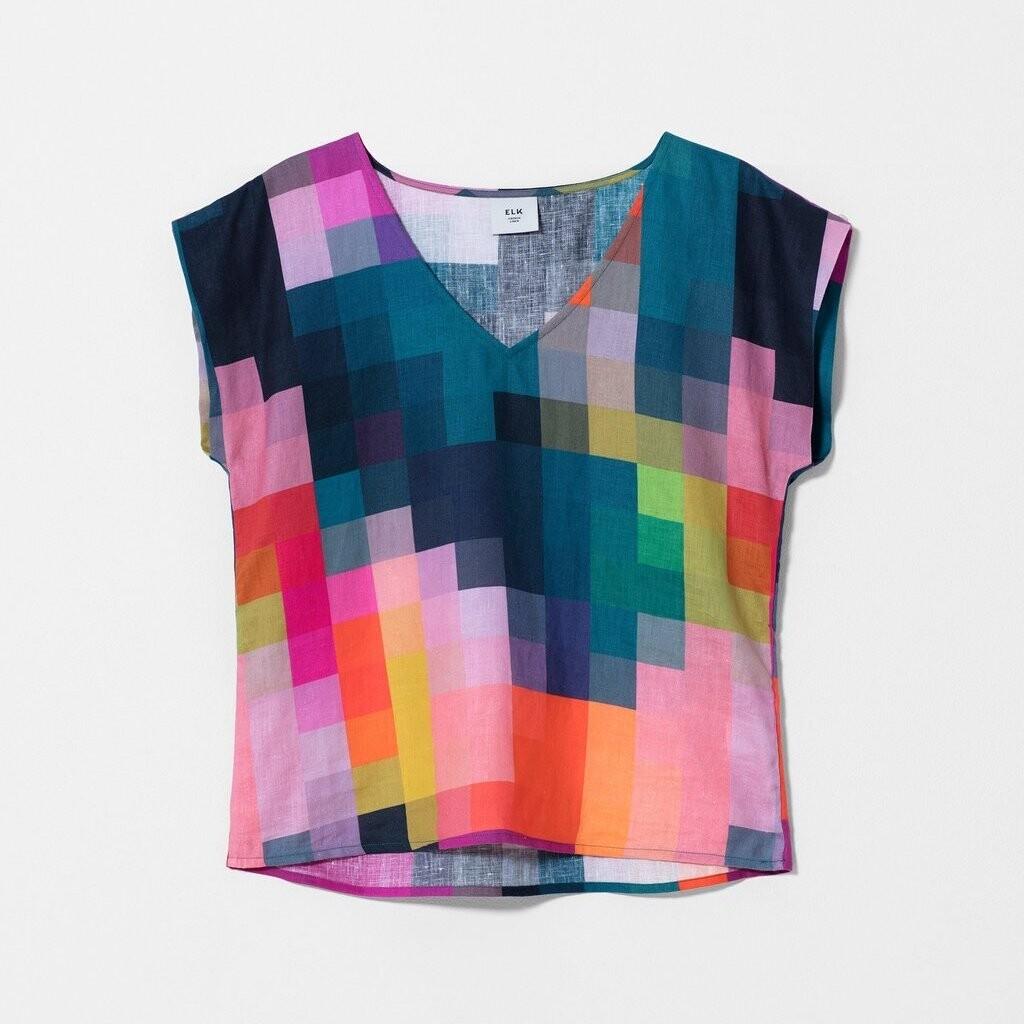 ELK Falme Linen Top - Pixel Print