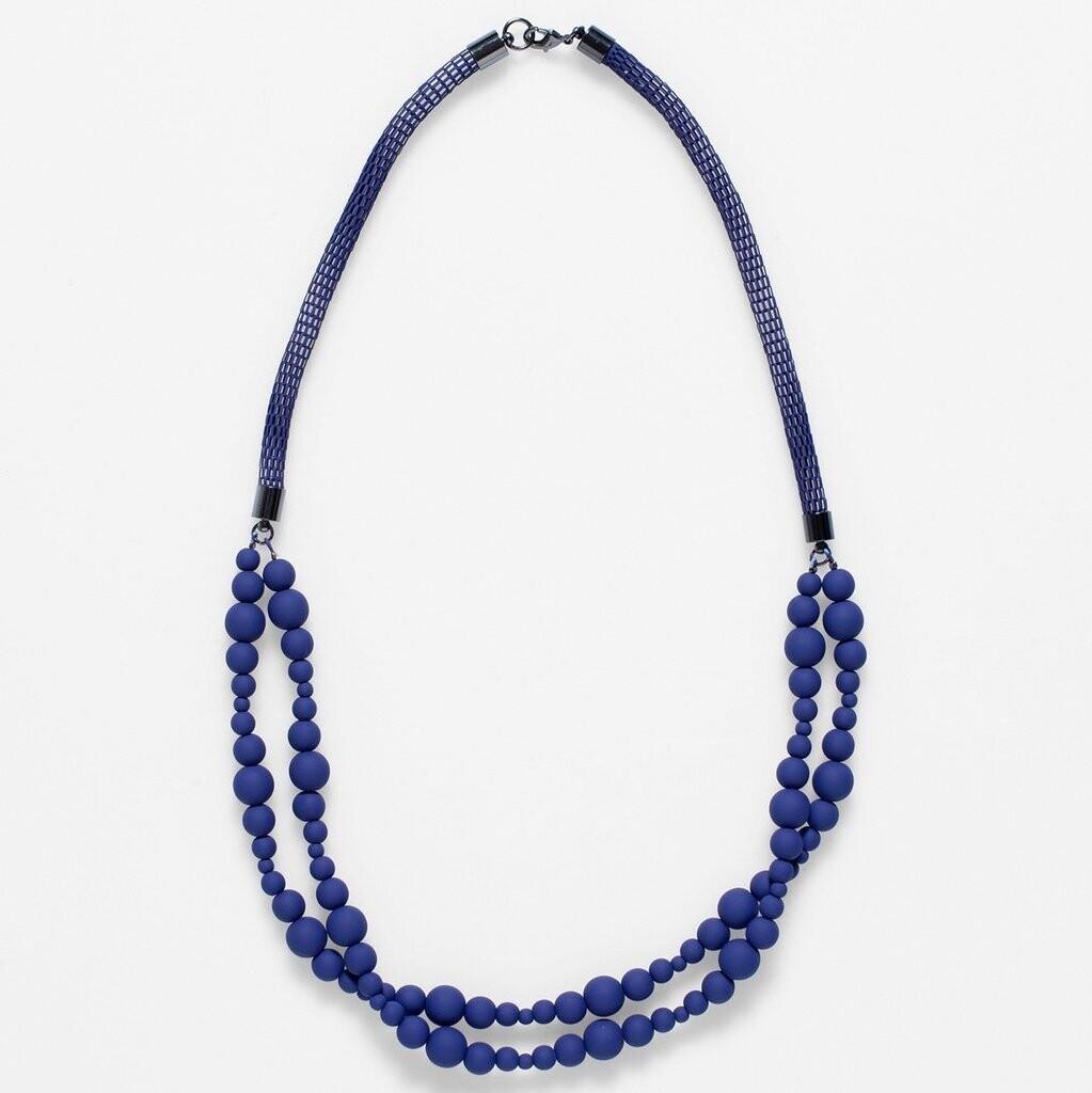 Macrame Necklace - Blue