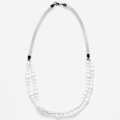 Macrame Necklace - White