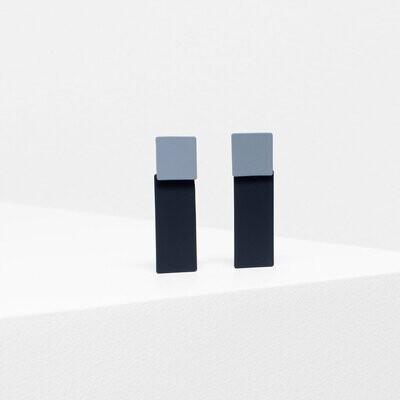 Tage Earrings - Gray/Black