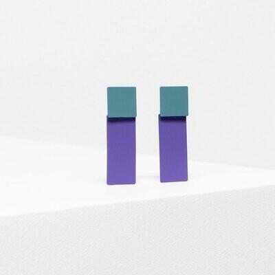 Tage Earrings - Green/Purple