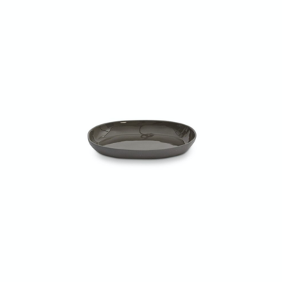 Oval Cloud Plate - Small - Charcoal