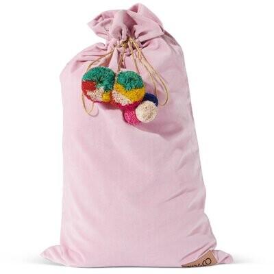 Velvet Santa Sack - Pink Parfait