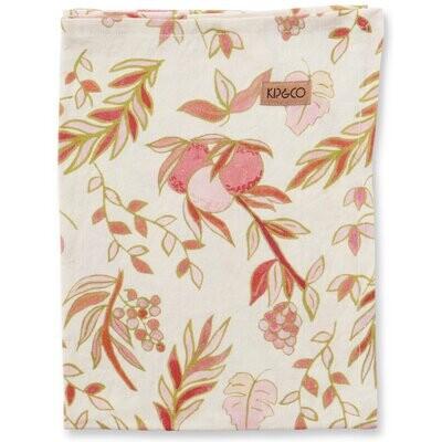 Linen Tea Towel - Festive Bloom