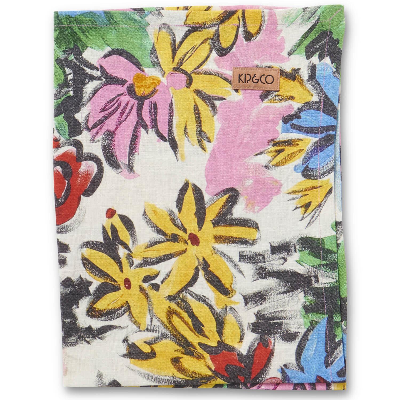 Linen Tea Towel - Rio Floral