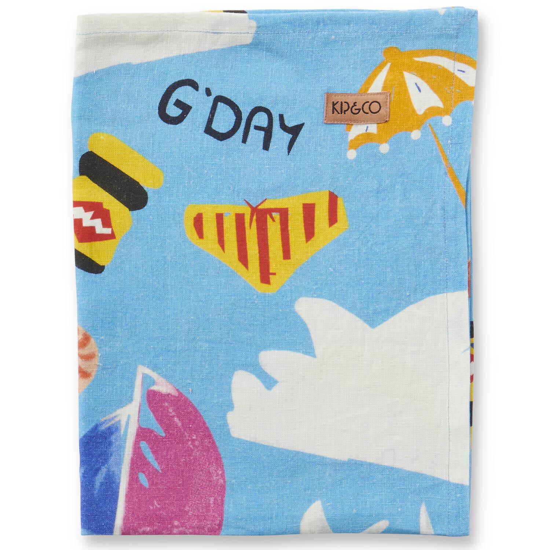 Linen Tea Towel - Aussie Icons