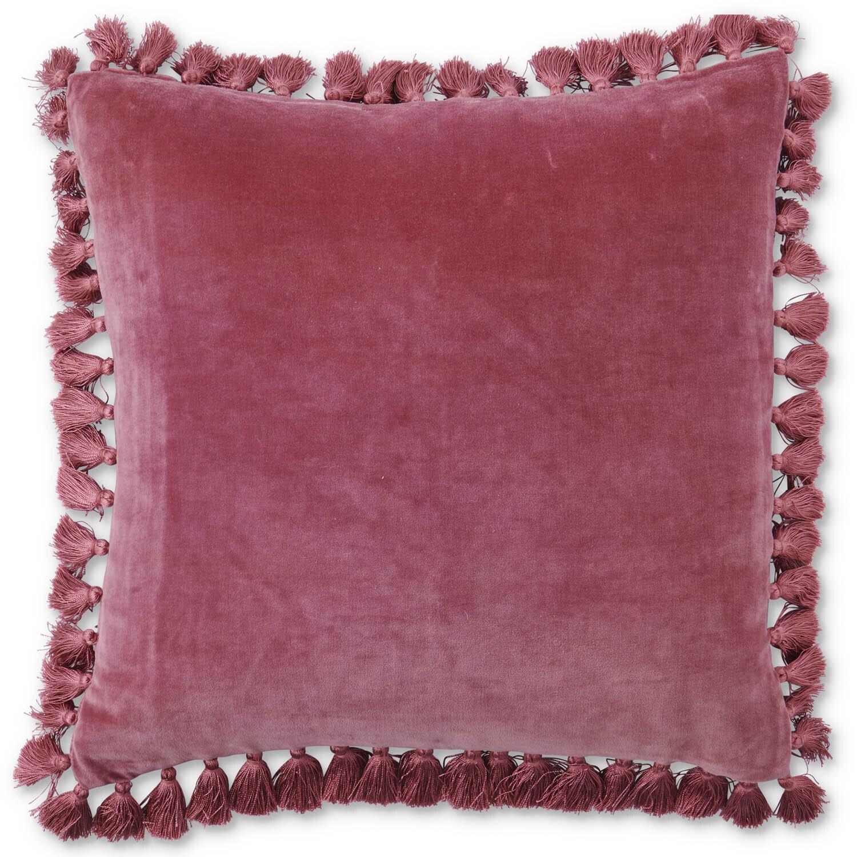 Velvet Tassel Cushion - Rosie