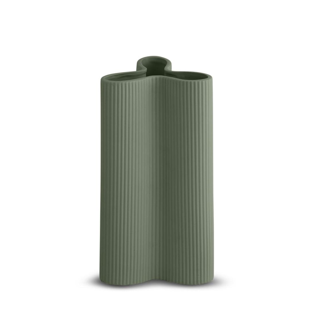 Ribbed Petal Vase - Large - Leaf