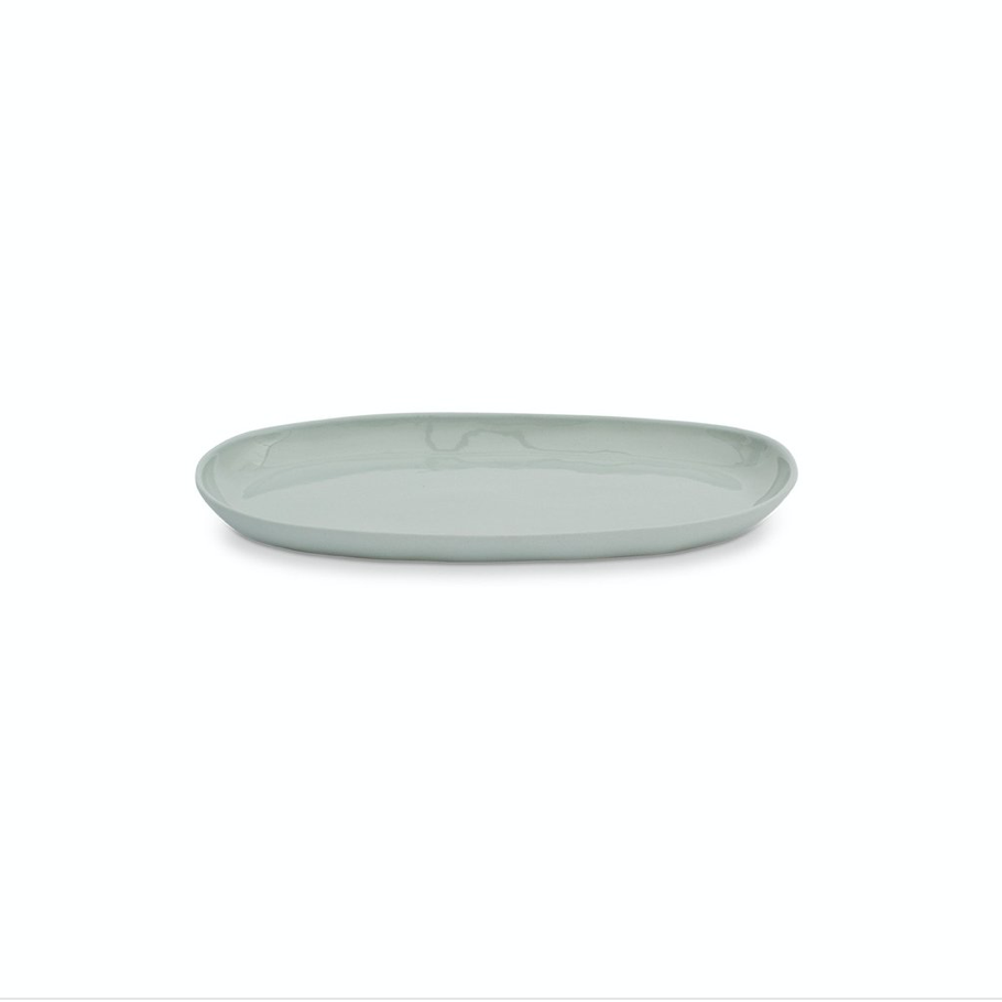 Oval Cloud Plate - Medium - Light Blue