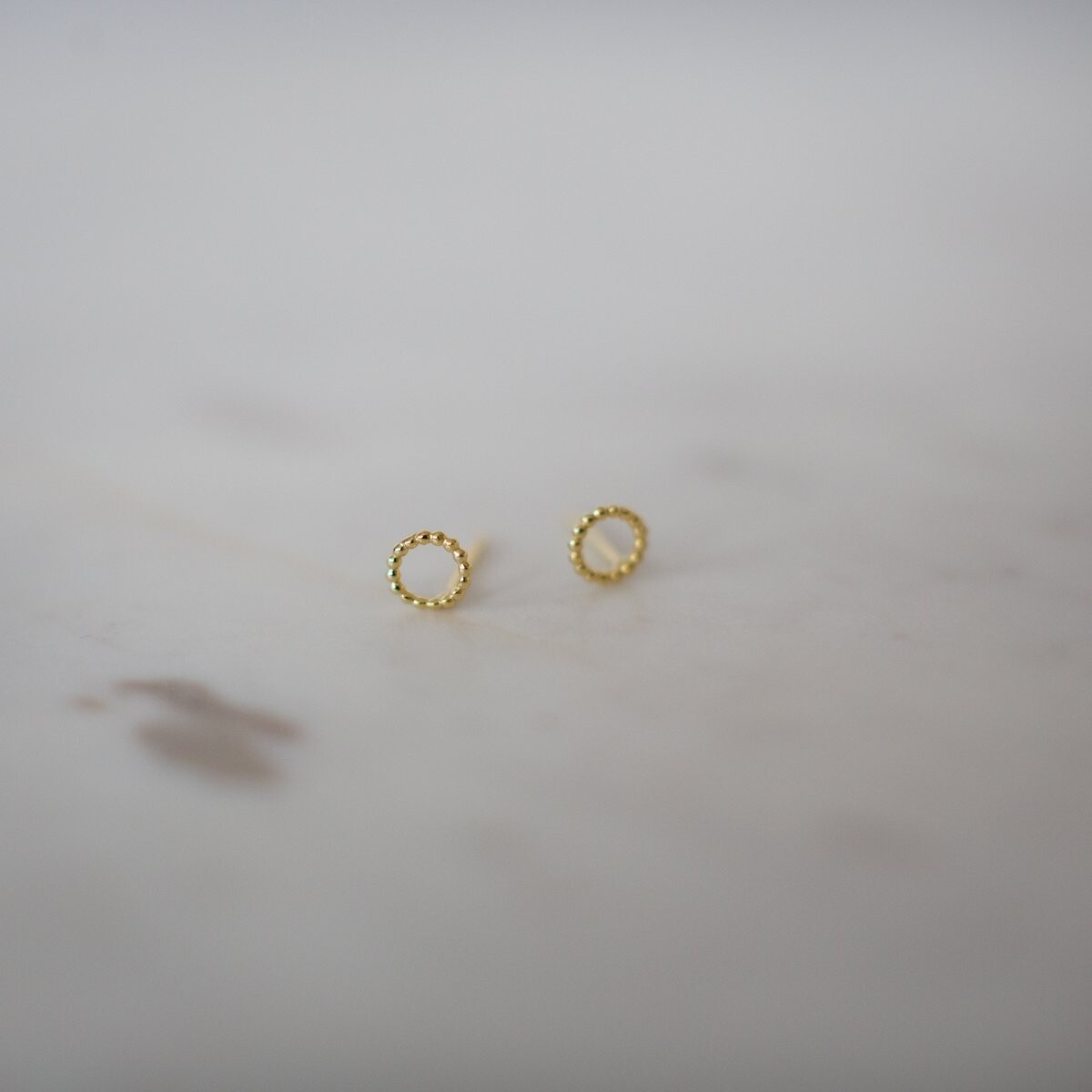 Dotty Oh Stud Earrings - 14kt Gold Plated