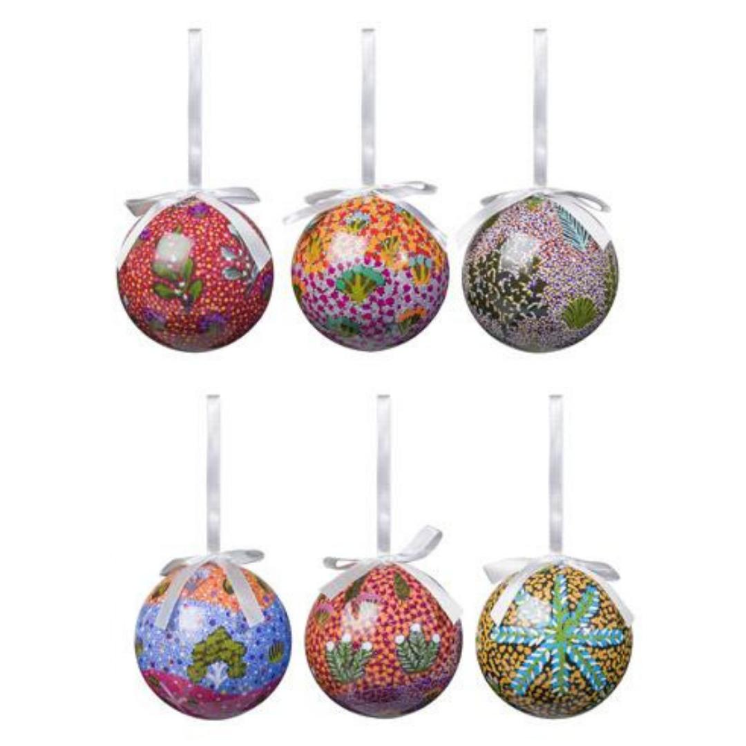 Christmas Baubles 6 pack - Aboriginal Design - AMPILATWATJA