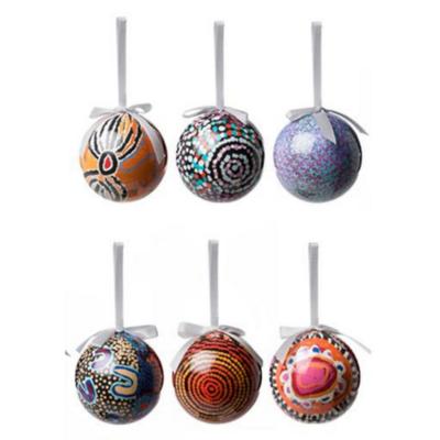 Christmas Baubles 6 pack - Aboriginal Design - WARLUKURLANGU