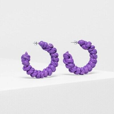 Knast Hoop Earring - Purple