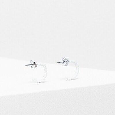 Sjo Hoop Earring - White