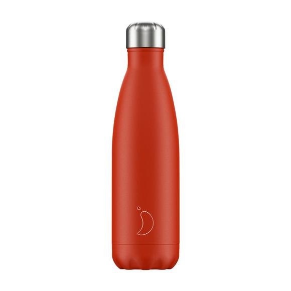 Chilly's Ανοξείδωτο Θερμός Neon Red 500ml
