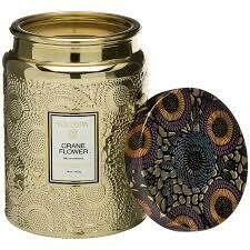 Voluspa Crane Flower - 16 oz Large Jar Glass Candle