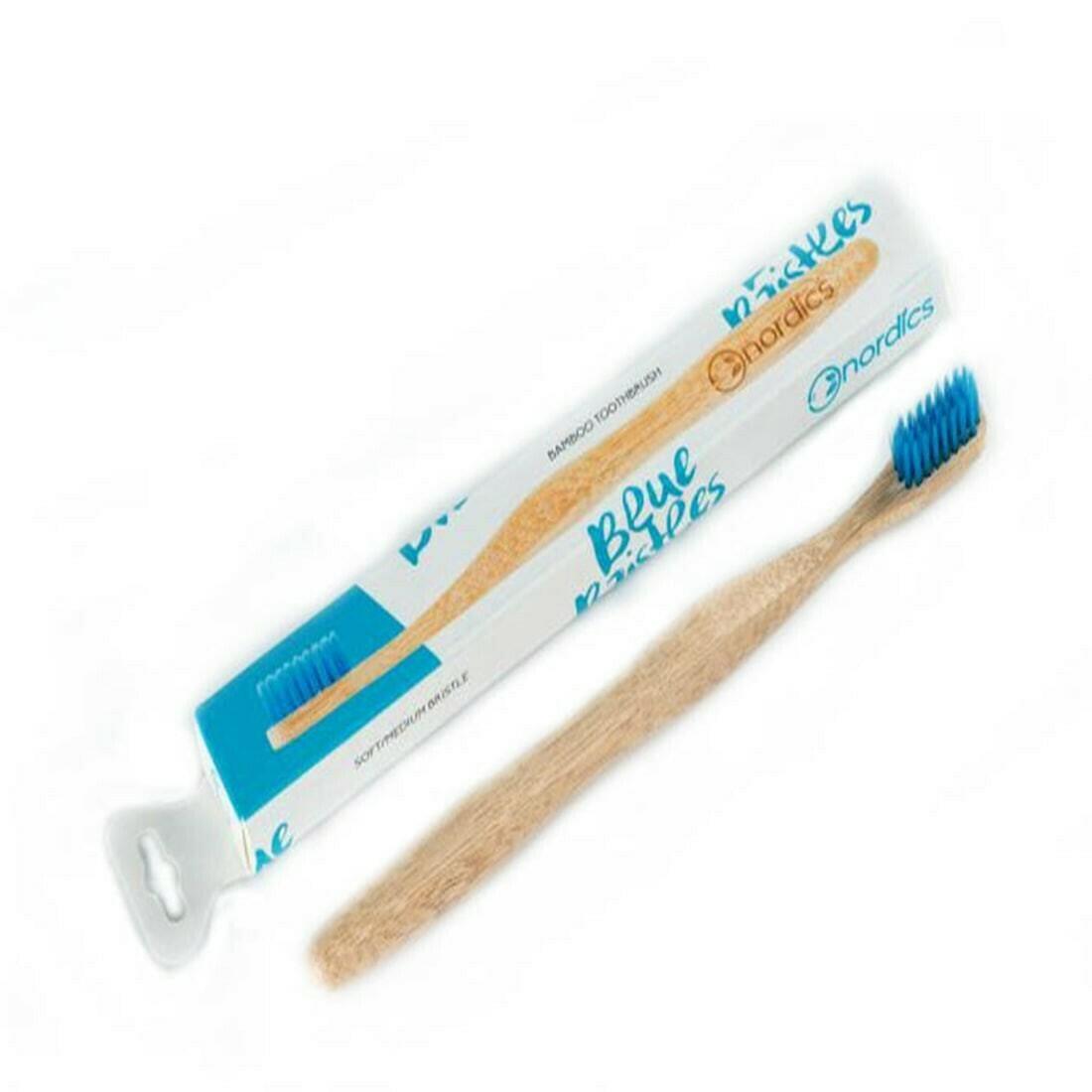 Nordics Bamboo Οδοντόβουρτσα Μπλέ