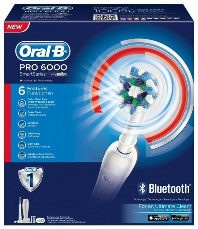 Oral-B Pro 6000 SmartSeries Bluetooth Ηλεκτρική Οδοντόβουρτσα