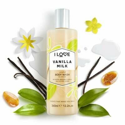 I Love Vanilla Milk Bodywash 360ml