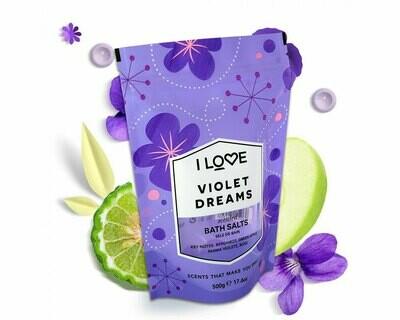 I Love Violet Dreams Bath Salts 500g