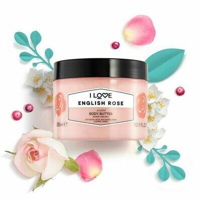 I Love English Rose Body Butter 300ml