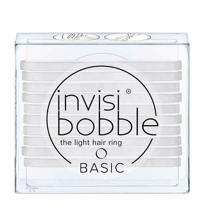 Invisibobble Basic Light Hair Ring Crystal Clear 10pcs
